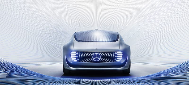 The Mercedes F 015 Luxury In Motion self-driving concept car. Photo Credit: Mercedes-Benz