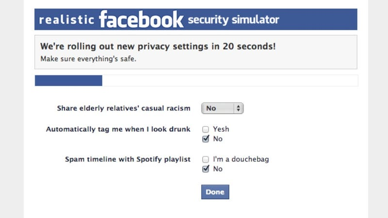 Illustration for article titled The Most Fun You'll Ever Have With Facebook Privacy Settings