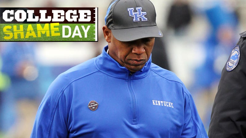 Illustration for article titled College ShameDay: Who Embarrassed Themselves On Saturday (Besides Kentucky's Joker Phillips, RIP)?