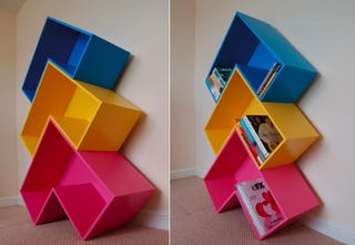 Illustration for article titled Arrow Bookshelf a Must-Have for Tetris Mongs