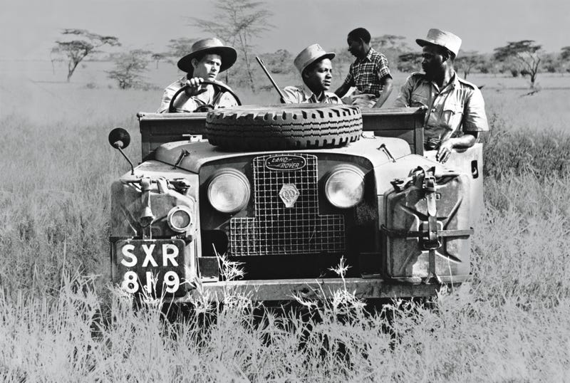 "Illustration for article titled ""1950's Series I Land Rover on Safari"" - Land Rover Heritage"