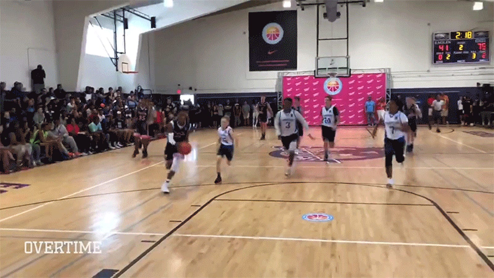 a7be91b9a9e LeBron s 13-Year-Old Son Nearly Dunks