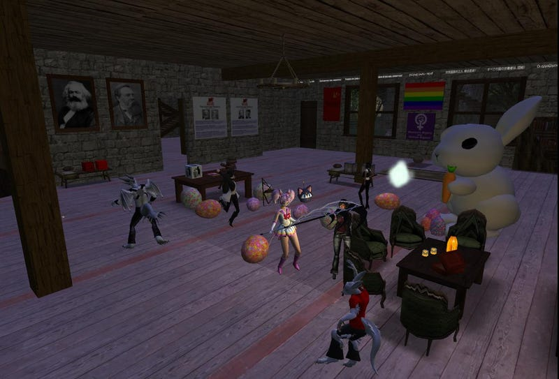 Illustration for article titled second life dance party