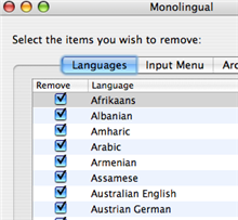 Illustration for article titled Download of the Day: Monolingual (Mac)