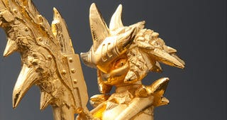 Illustration for article titled Solid Gold Monster Hunter Statue Costs $29,000