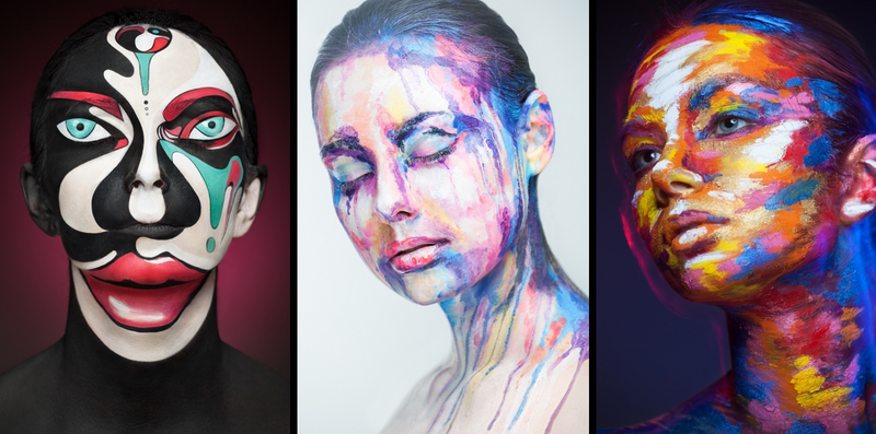 Illustration for article titled This 2D face makeup will hijack your brain