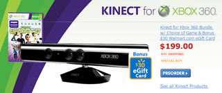 Illustration for article titled Wal-Mart Offering $199 Kinect Bundle, Selling Kinect Games for $60