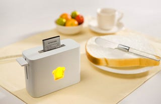 Illustration for article titled Toasty Charger is Part of a Power-Packed Battery Breakfast