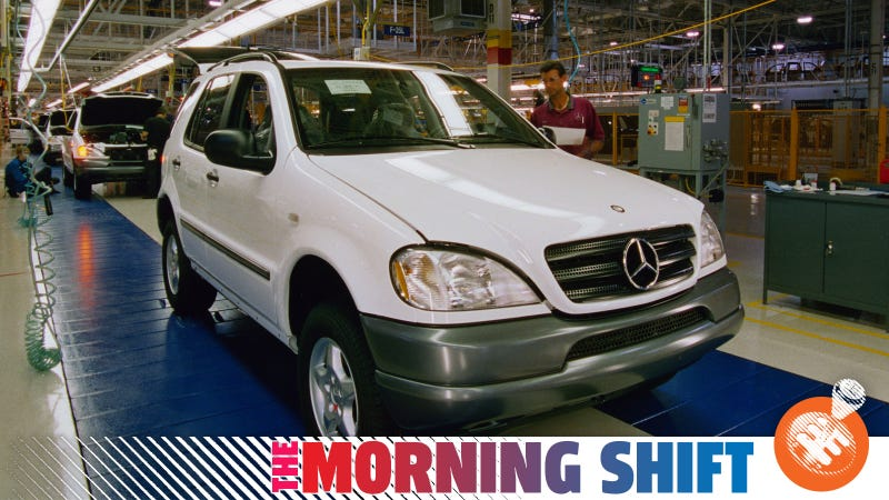 The original German SUV, the Merceds ML in production in Alabama. Production started in 1997. Photo: Daimler