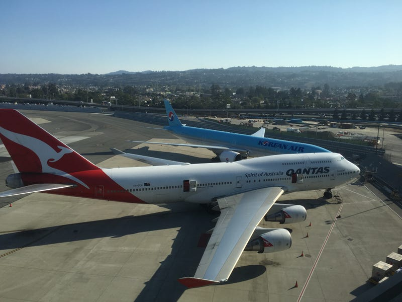 747 and 777 at SFO on Saturday