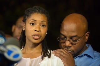 Miriam Carey's sister Amy Carey-Jones speaks to the media Oct. 4, 2013, in Brooklyn, N.Y.Michael Graae/Getty Images