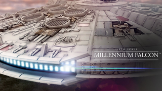 Illustration for article titled The Massive, 1/6th-Scale Millennium Falcon Is the Prettiest Hunk of Junk