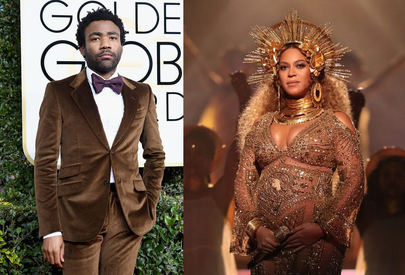 Donald Glover (Frazer Harrison/Getty Images); Beyoncé (Frazer Harrison/Getty Images)