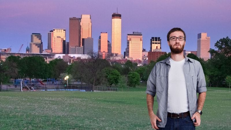 Illustration for article titled Local Man Knows He Moved To Minneapolis For Something, But Can't Remember What
