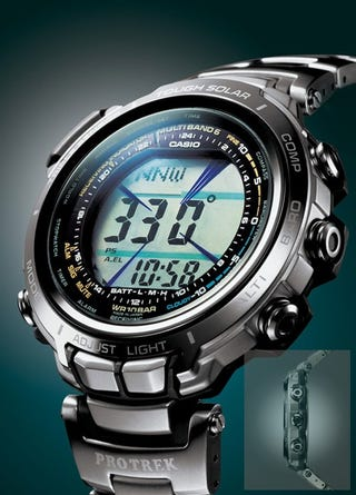 Illustration for article titled Casio Protrek PRX-2000T Tracks Temps, Pressure, Altitude. Oh, and Time, Too