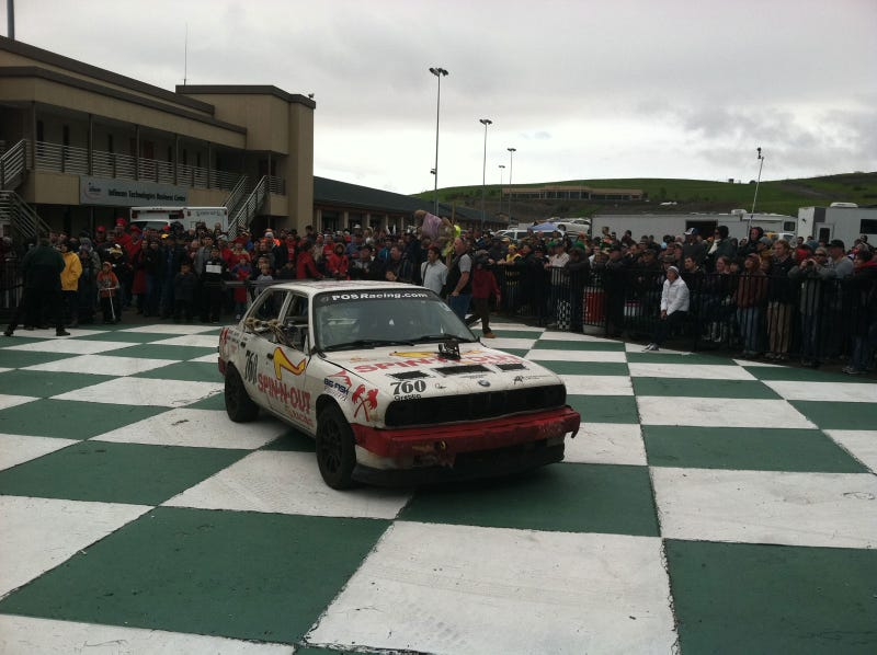 Illustration for article titled $500 Craigslist Rally Driver, appropriately, wins 24 Hours of LeMons
