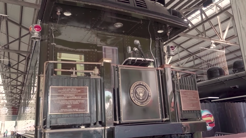 Illustration for article titled Presidents Used To Ride Around The Country In A Bulletproof Railcar
