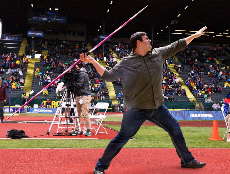 Illustration for article titled Olympic Spectator Wins $100,000 After Hitting Midfield Javelin Throw