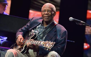 B.B. King performs onstage during the 2013 Crossroads Guitar Festival at Madison Square Garden April 12, 2013, in New York City. The blues legend died May 14, 2015, in Las Vegas. He was 89.Larry Busacca/Getty Images