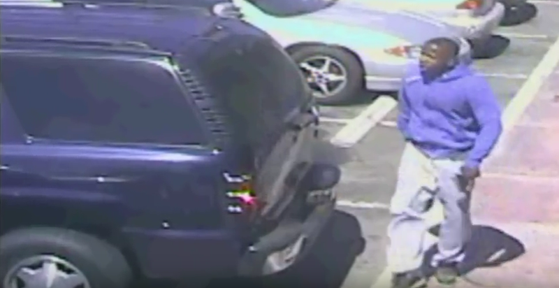 Image from surveillance video released by the LAPD allegedly showing Carnell Snell Jr. moments before he was killed by policeThe Los Angeles Police Department via YouTube screenshot