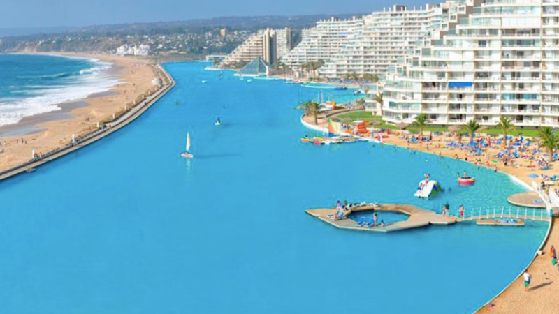 Illustration for article titled The World's Largest Pool Is Honestly Just Too Big