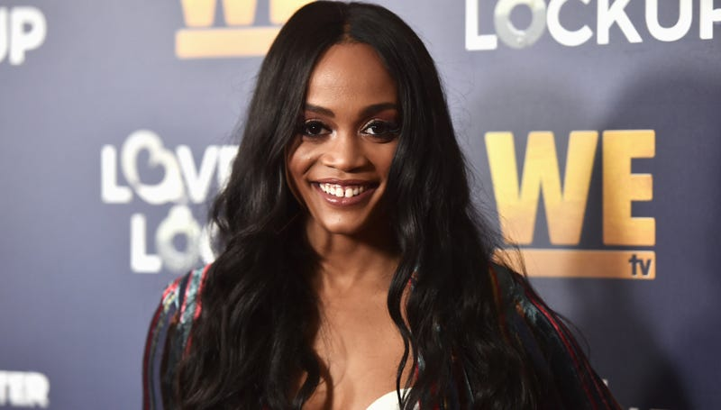 "Rachel Lindsay attends WE tv celebrates the return of ""Love After Lockup"" on December 11, 2018 in Beverly Hills, California."