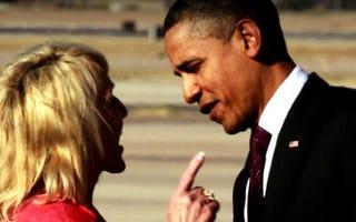 Gov. Jan Brewer with President Obama (CBS)
