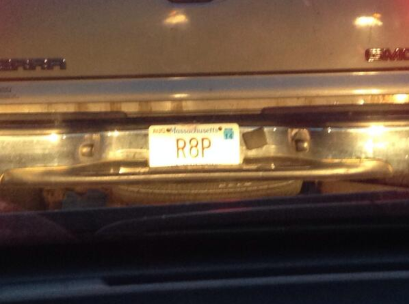 Illustration for article titled 'R8P' License Plate Spotted in Massachusetts