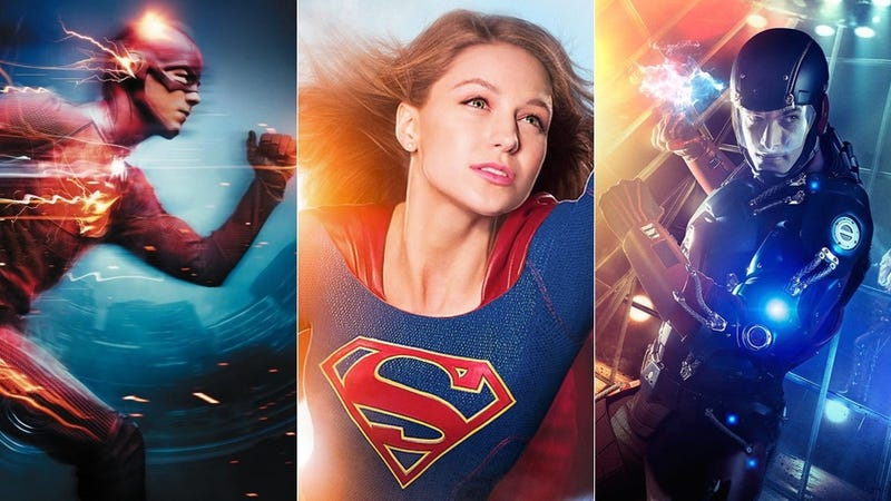 Illustration for article titled How The Flash, Supergirl and Legends of Tomorrow Put Widescreen Superhero Action on TV