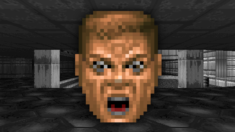 "Illustration for article titled The Weird Story Behind Doom's Rare ""Ouch Face"""