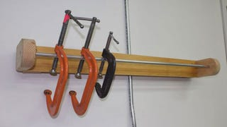 Illustration for article titled Build a Wall-Mounted Clamp Rack to Keep Your Favorite Clamps at Arm's Reach