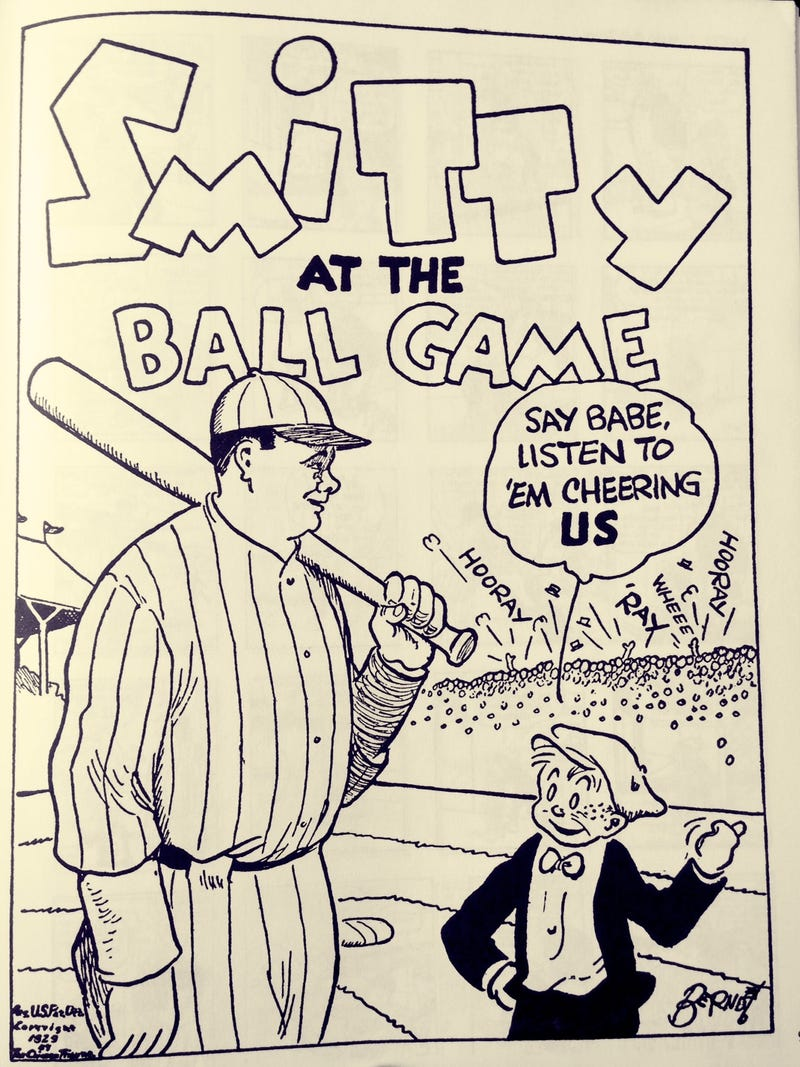 Illustration for article titled Babe Ruth In The Funny Papers