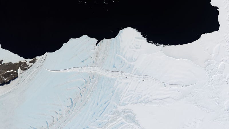 Illustration for article titled A 30-Mile-Long Ice Shelf Is About to Break Away From Antarctica