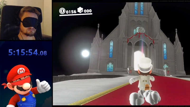 It Only Took Five Hours To Beat Super Mario Odyssey Blindfolded