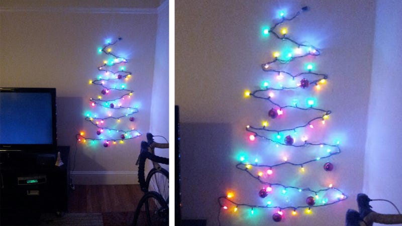 Illustration for article titled This Clever Christmas Tree Is The Answer to Your Cramped Holiday Woes