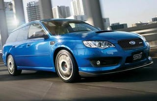 Illustration for article titled Subaru Legacy STI S402 Adds Power, Fender Vents