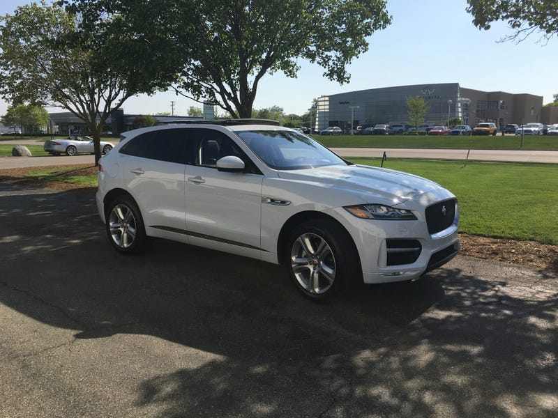 Illustration for article titled Got to drive the Jaguar F-Pace today