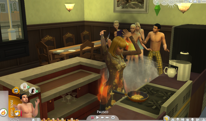 Illustration for article titled The Sims 4 Celebrity House Update: Kim Kardashian Set The House On Fire