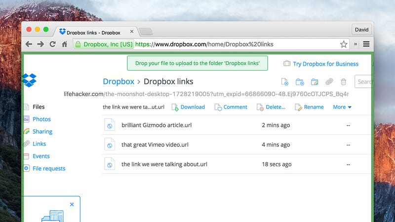 Use Dropbox to Keep a Shared List of Links or Bookmarks