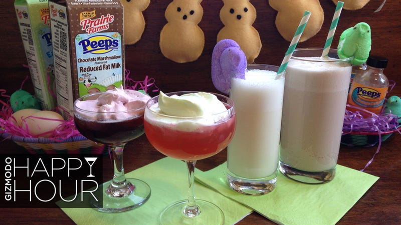 Illustration for article titled The Ultimate Peeps Marshmallow Milk Cocktails For Your Easter Brunch