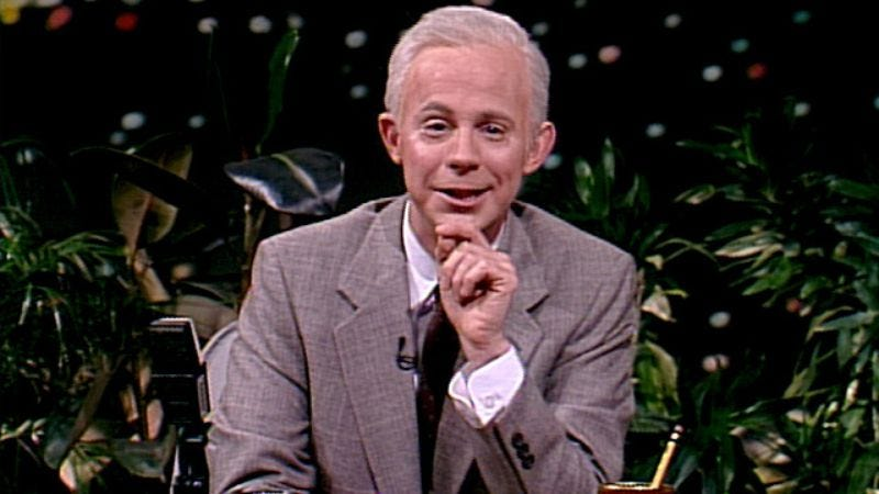 Dana Carvey as Johnny Carson on Saturday Night Live