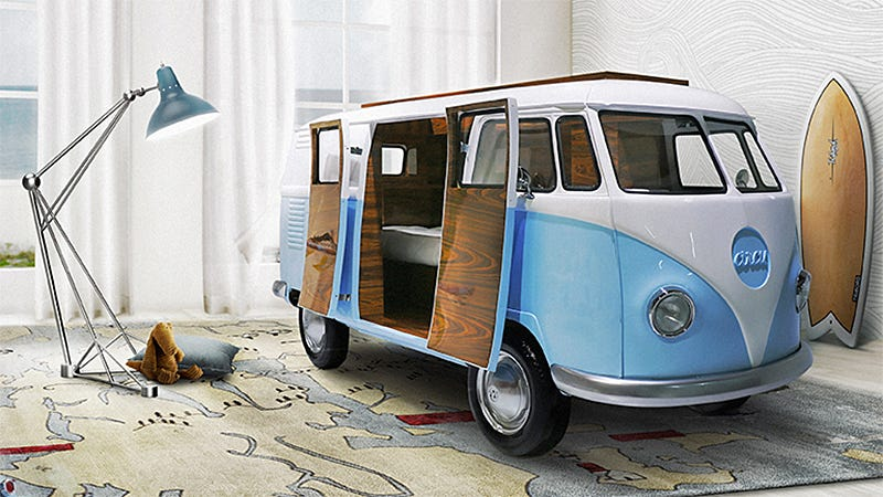 Illustration for article titled No One Is Going to Use This VW Camper Van Bed For Sleeping