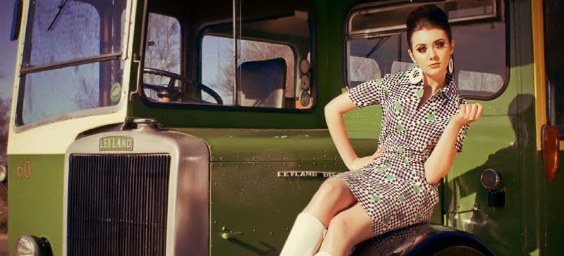 Illustration for article titled It's Friday, So Let's Look At Some Pretty Girls And Old Buses