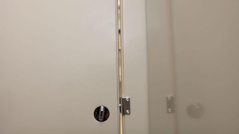 & Narrow Gaps In Bathroom Stall Doors To Be Widened Monday