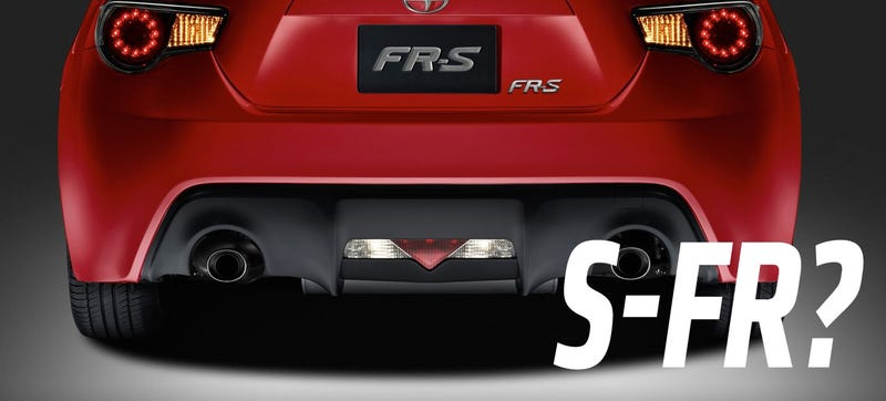Illustration for article titled Why Did Toyota Just Trademark The Name 'S-FR'?