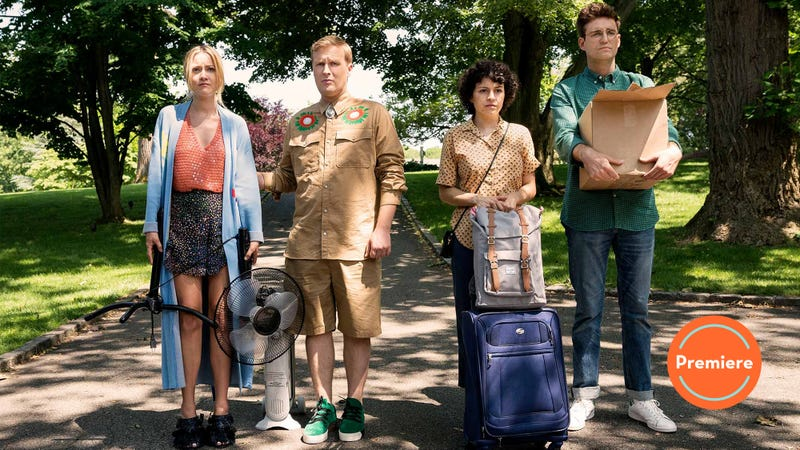 Meredith Hagner (left), John Early, Alia Shawkat, John Reynolds (Photo: Turner Networks)