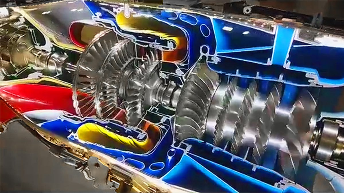 This Full Motion Cutaway Of A Pt6 Turboprop Engine Is Glorious Turbofan Schematic Work Art