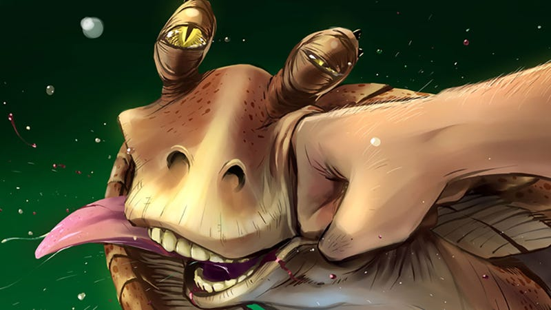 Illustration for article titled Jar Jar Binks Finally Gets What's Coming To Him