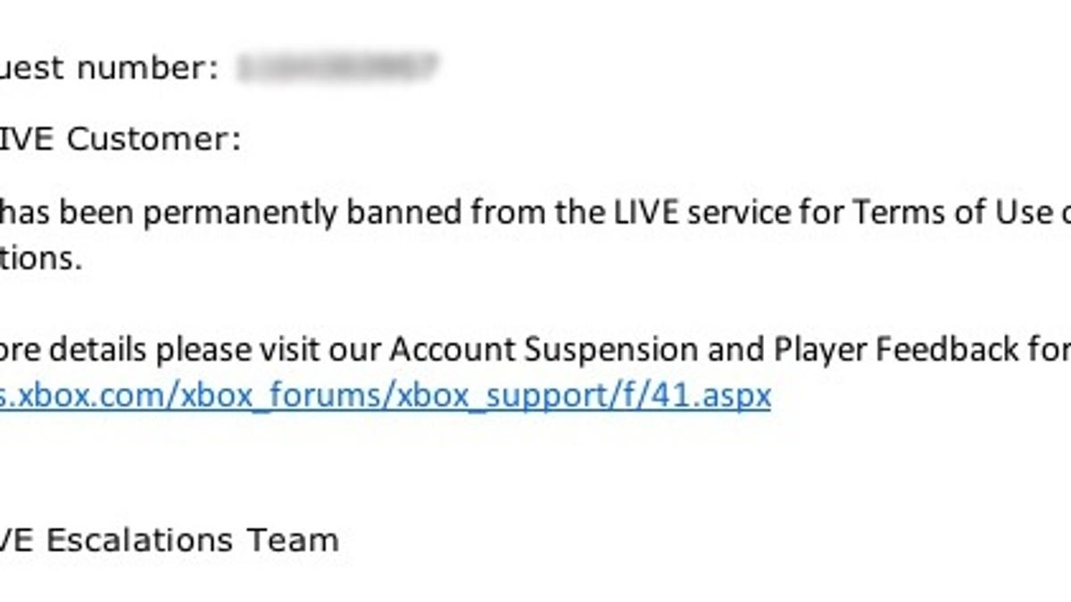 The Ridiculous Three-Month Ban of An Innocent Xbox Gamer