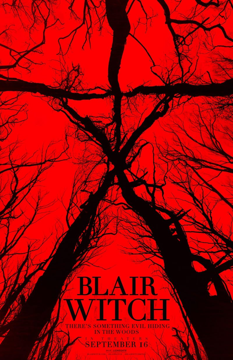 Illustration for article titled The Blair Witch 2016 Movie Counter